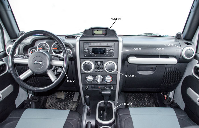 Int rieur jk for Interieur jeep