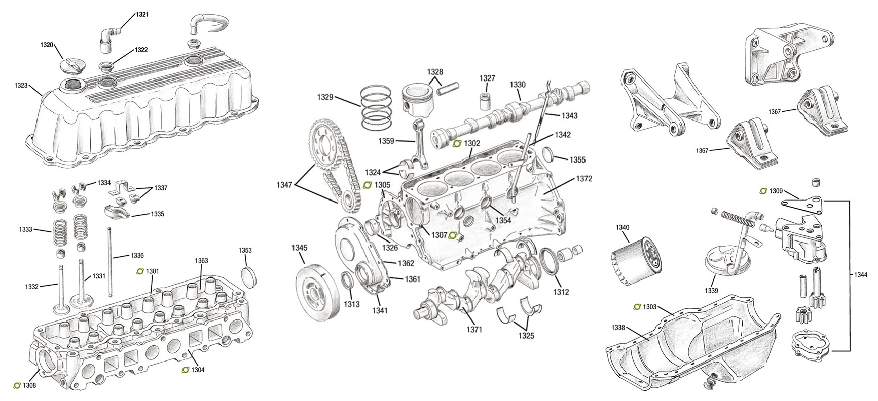 moteur  2 5l  4 0  4 2l  jeep wrangler yj