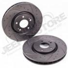 Kit de 2 disques de frein avant renforcés Sport Jeep Wrangler JK (diametre: 13.09' , 33.25cm)