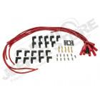 Kit jeu de fils de bougies pour allumeur HEI pour 6 et 8 cylindres Jeep CJ , Wrangler YJ pour allumeur électronique réf: 0408.04 , 0408.05 et 0408.14