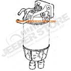 Support de filtre à gazoil complet 2.5L TD et 3.1L TD Jeep Cherokee XJ et Grand Cherokee WJ, WG