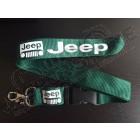 Tour de cou vert, porte clef Jeep