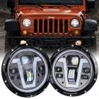 Kit de 2 phares à LED (modèle V) pour Jeep Wrangler JL
