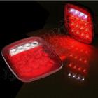 Kit de 2 feux LED arrière gauche et droit PLAT (version US) pour Jeep CJ, Wrangler YJ, TJ