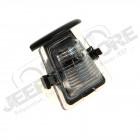 Éclaireur de plaque d'immatriculation arrière (version Europe ou US) pour Jeep Wrangler JK
