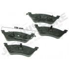 Plaquettes de frein pour essieu arrière à disque pour Jeep Cherokee Liberty KJ (de 2002 au 18/04/2005)