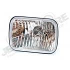 Phare avant USA verre clair (projecteur) 14x20cm , Wrangler YJ gauche ou droit , ampoule H4 , avec veilleuse , verre polycarbonate il est necessaire de faire des petit travaux d'adaptation une petite découpe dans le support de phare