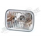 Phare avant verre claire (projecteur) 14x20cm , Cherokee XJ gauche ou droit , avec ou sans réglage de hauteur. meilleur éclairage que le phare d'origine