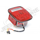 Feu arrière gauche (avec éclaireur de plaque) (version US) rouge et blanc et feu sur le coté pour Jeep CJ, Wrangler YJ, TJ