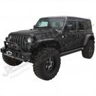 Kit de 4 élargisseurs d'aile plates Bushwacker pour Jeep Wrangler JL (2 ou 4 portes)