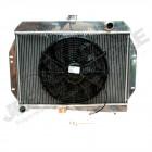 Radiateur moteur de refroidissement en aluminium avec ventilateur électrique incorporé 4.2L et V8 essence Jeep CJ