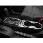 Enjoliveur de levier de vitesses automatique et porte gobelets, (en plastique gris anthracite) , Jeep Wrangler JK