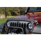 Déflecteur d'air de capot moteur (couleur noir mat) pour Jeep Wrangler JK