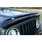 Déflecteur d'air de capot moteur (couleur fumé) pour Jeep Wrangler YJ et TJ