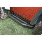 Kit de marches pieds acier noir pour Jeep Wrangler JK 2 portes
