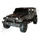 11561-10 Pare chocs avant tubulaire acier noir Jeep Wrangler JK
