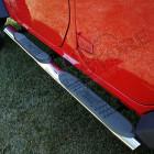 Kit marches pieds INOX avec anti dérappant tube OVALE, pour Wrangler JK Unlimited, 4 portes