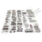 Kit visseries inox complète pour carrosserie avec hardtop (754 pièces) pour Jeep Wrangler YJ