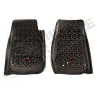 Kit de tapis de sol en caoutchouc avant noir, Wrangler JK (2 ou 4 portes)