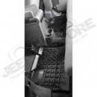 Kit de tapis de sol en caoutchouc arrière noir (4 portes), Wrangler JK Unlimited