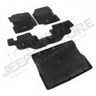 Kit de tapis de sol complet en plastique préformé Jeep Wrangler YJ (avant, arrière et coffre)v