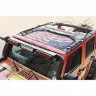Bikini Eclipse Sun pour l'avant (couleur: drapeau Américain USA) Jeep Wrangler JK (2 ou 4 portes)