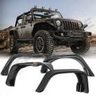Kit de 4 élargisseurs d'ailes plates en plastique Jeep Wrangler JK