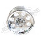 Jante aluminium argent poli, 5x127 , 9x17 , ET -16 pour Jeep JK, WJ, WG, WH, WK