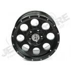 Jante aluminium noir poli, 5x127 , 9x17 , ET -16 Jeep JK, WJ, WG, WH, WK