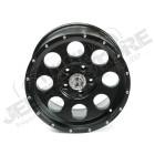 Jante aluminium noir poli, 5x127 , 9x18 , ET -16 Jeep JK, WJ, WG, WH, WK