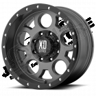 Jante aluminium XD126 matte grise - ring noir - 5x127 - 9x17 - ET: -12