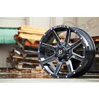 Jante aluminium 956 Black Full Machined - 5x127 - 9x17 - ET: -12