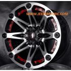 Jante aluminium 814 Flat Black - 5x127 - 9x17 - ET: -12