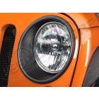 Kit de 2 entourages de phares plastique Jeep Wrangler JK