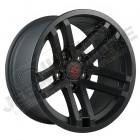 Jante aluminium RR Jesse Spade , couleur noir satinée 5x127 , 9x17 , ET: -12
