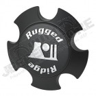 Cache moyeu noir mat pour jante aluminum Rugged Ridge XHD Series - 5x127 - diamètre: 71.50mm
