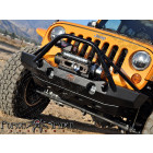 Pare chocs avant acier avec porte treuil MID Brawler (Poison Spider) Jeep Wrangler JK