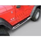 Kit marches pieds INOX avec anti dérappant, pour Wrangler JK, 2 portes diametre 75mm
