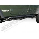Kit marches pieds acier noir , pour Wrangler JK Unlimited, 4 portes