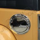 """Trappe à essence """"Jeep"""" en aluminium et plastique chromé pour Jeep Wrangler JK"""