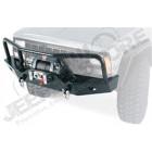 Pare chocs avant acier WARN avec porte treuil et barre protection Jeep Cherokee XJ