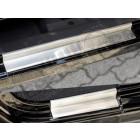 Kit de 4 protections de seuils de portes en acier inox pour Jeep Wrangler JK Unlimited
