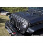 Déflecteur d'air de capot moteur (couleur noir) pour Jeep Wrangler JL et Gladiator JT