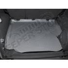 Tapis de coffre caoutchouc gris préformé , Jeep Wrangler JK (2 portes)