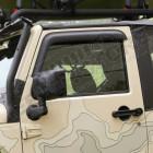 Kit de 2 déflecteurs de vitres (couleur noir mat) pour Jeep Wrangler JK (2 portes)