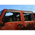 Kit de 4 déflecteurs de vitres (couleur noir mat) pour Jeep Wrangler JK Unlimited (4 portes)