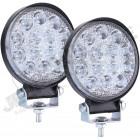 Kit de 2 feux Longue portées rond à LED , 42W - ... lumens (diamètre: 8cm)