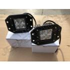 Lampe LED carré universel à encastrer (9 à 32 volts) 12 watts , 1200 lumens (unitaire)