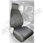 Kit de housses de sièges avant noir en néoprène pour Jeep Wrangler JK