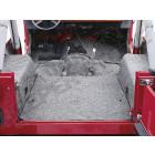 Moquette d'intérieur complete grise sans isolation Jeep CJ, Wrangler YJ